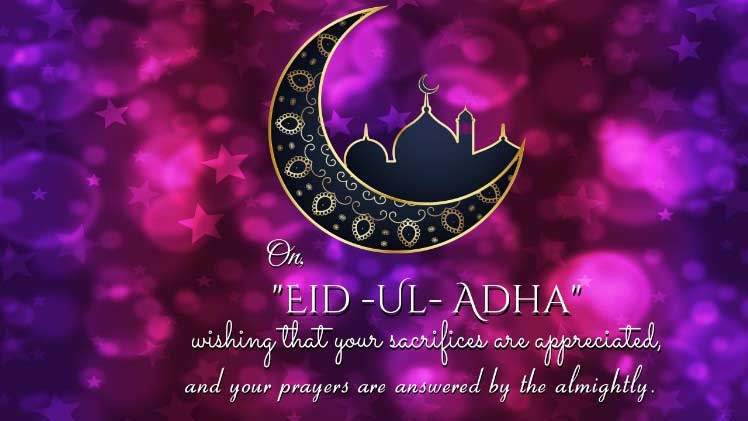 Eid al Adha Greetings in English